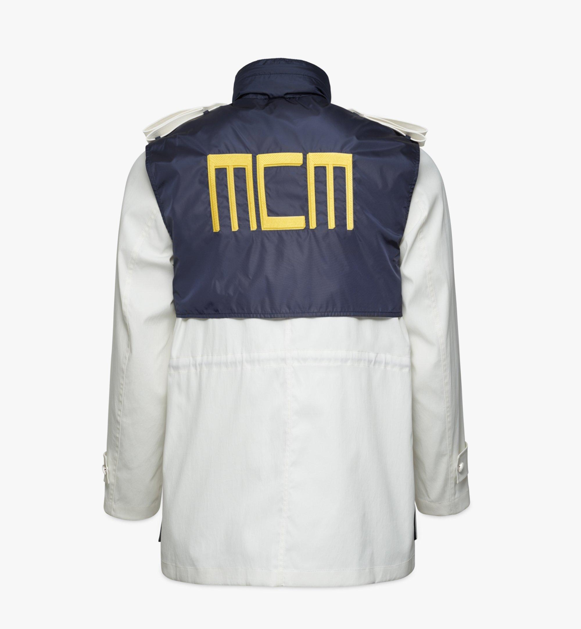 MCM Geo Laurel Blouson Jacket Blue MHJBSMM02VZ050 Alternate View 1