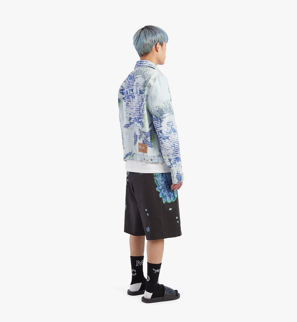 MCM Men's Tech Flower Denim Jacket Blue MHJBSMM03LE048 Alternate View 2