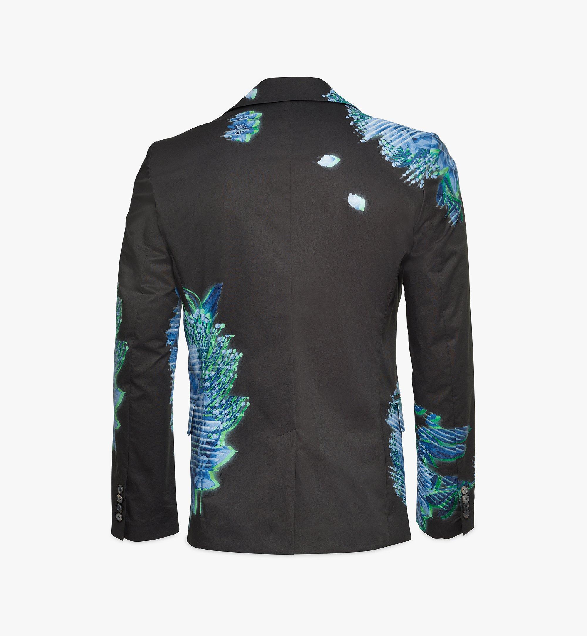 MCM Men's Tech Flower Print Blazer Black MHJBSMM04B2048 Alternate View 1