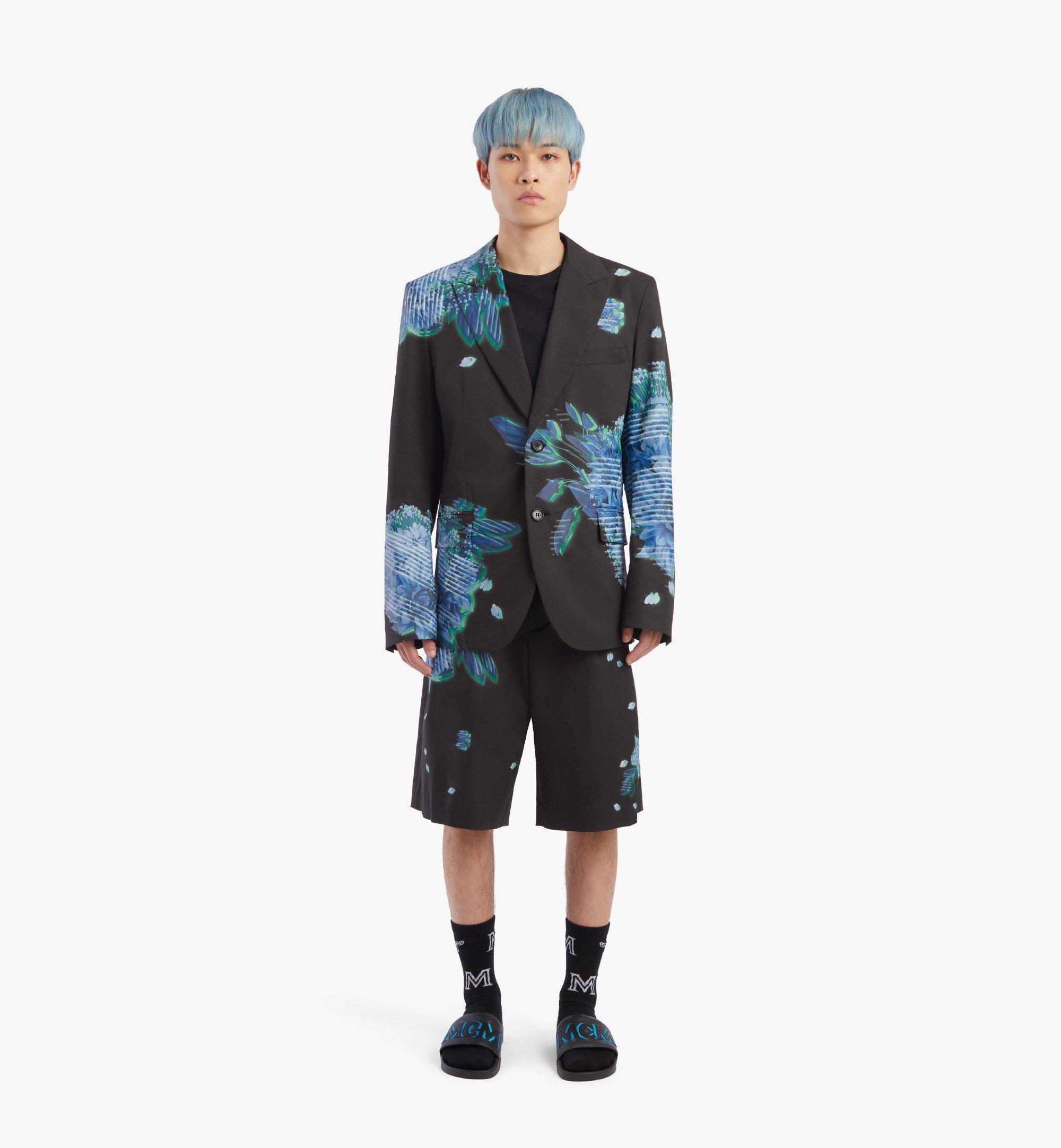 MCM Men's Tech Flower Print Blazer Black MHJBSMM04B2048 Alternate View 3