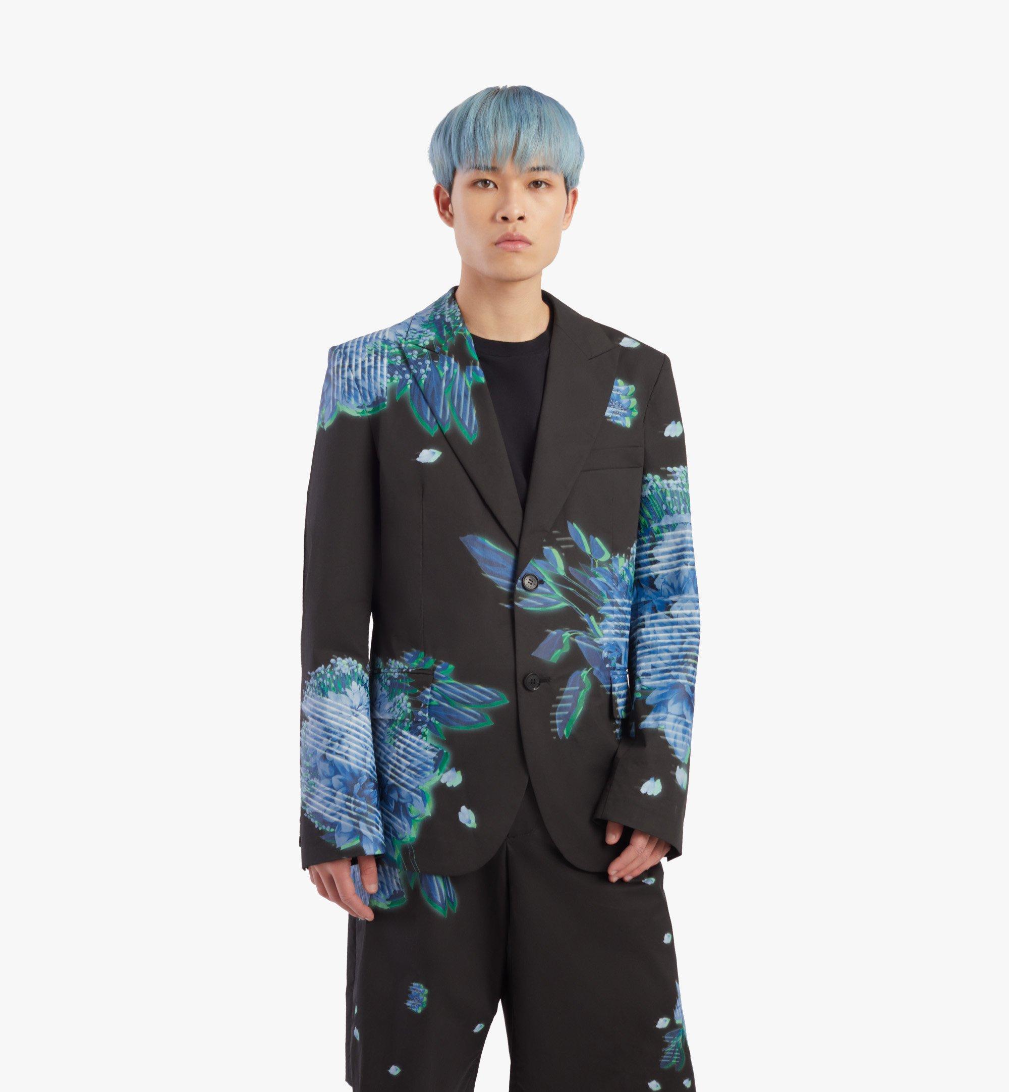 MCM Men's Tech Flower Print Blazer Black MHJBSMM04B2048 Alternate View 2
