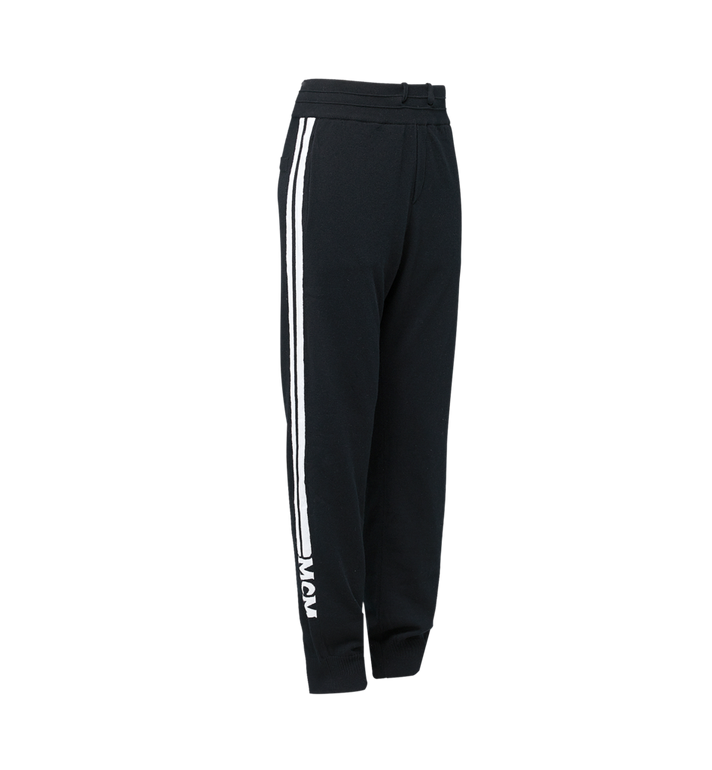 MCM Men's Cashmere Track Pants Black MHP7AMM23BK00M Alternate View 2