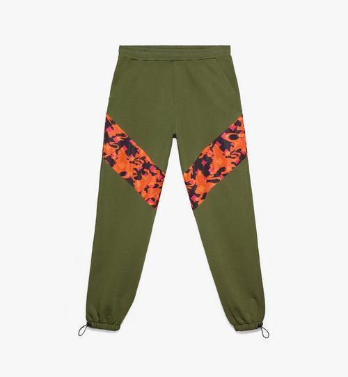 Herren-Trainingshose aus Baumwolle mit Camouflage-Print