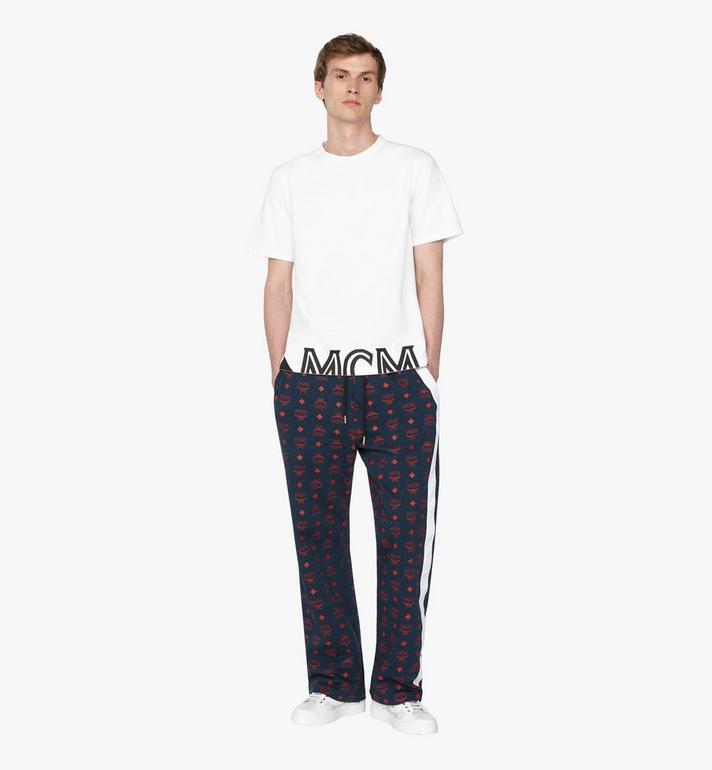 MCM Men's Visetos Print Track Pants Blue MHP9AMM85VS00L Alternate View 3