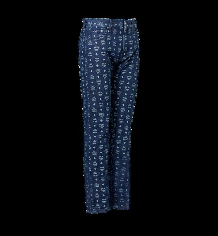 MCM Herren Jeans mit Visetos Print Blue MHP9SMM72HD046 Alternate View 2