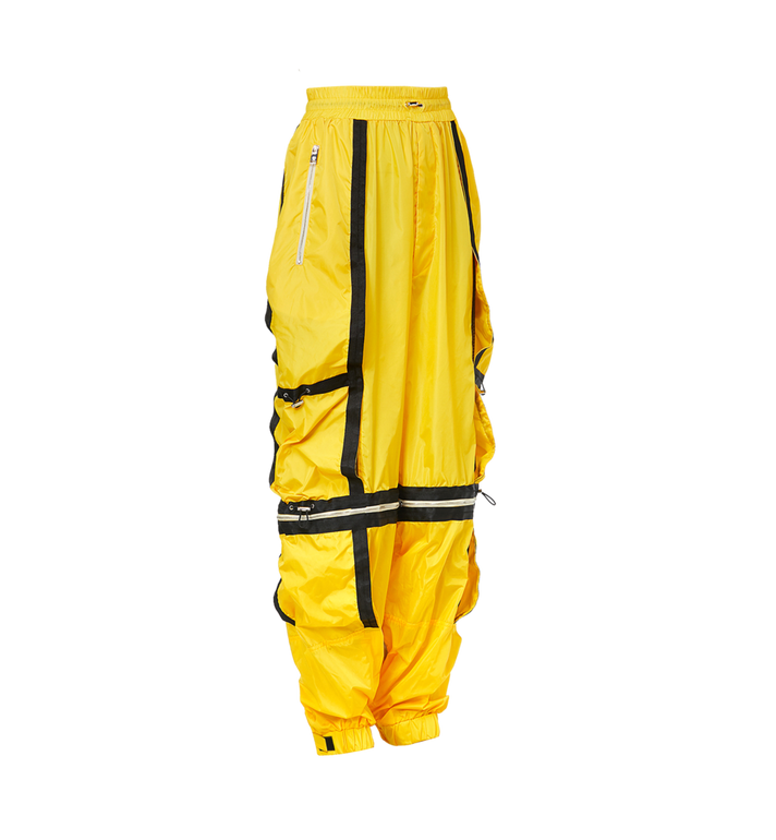 MCM Men's Deconstructed Parachute Pants in Nylon Yellow MHP9SNX15YW046 Alternate View 2