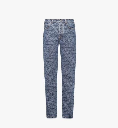 Men's Monogram Straight Leg Jeans