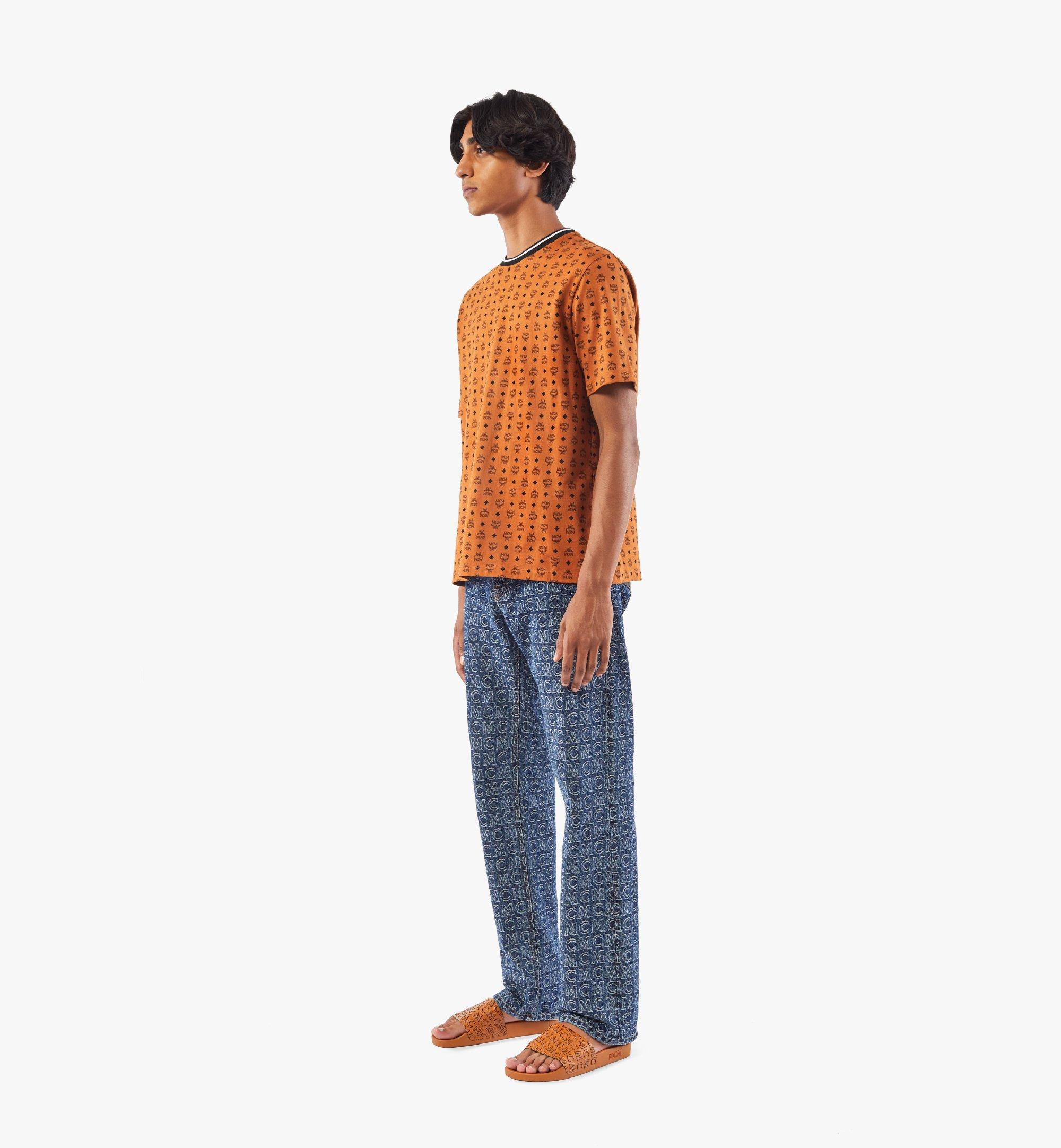 MCM Men's Monogram Straight Leg Jeans Blue MHPAADS01VW046 Alternate View 2