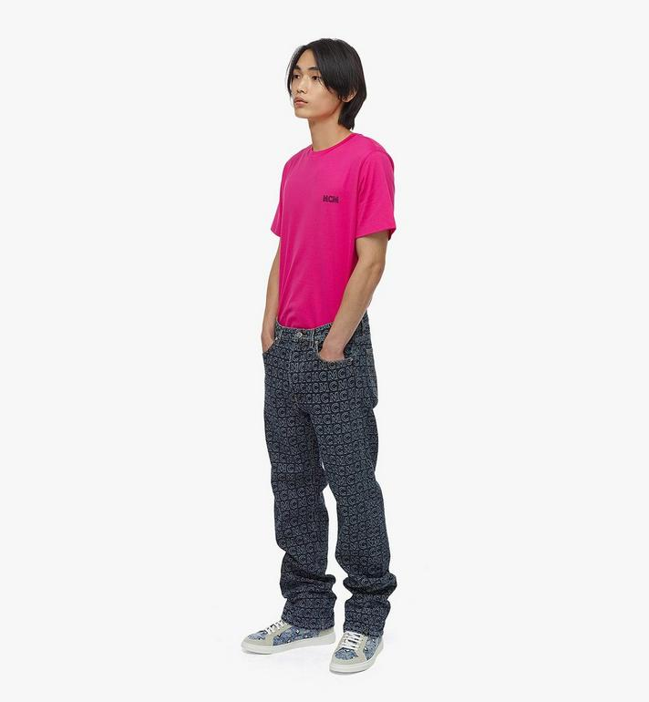 MCM Jeans mit Monogramm und geradem Beinschnitt für Herren Black MHPAADS01VW048 Alternate View 3
