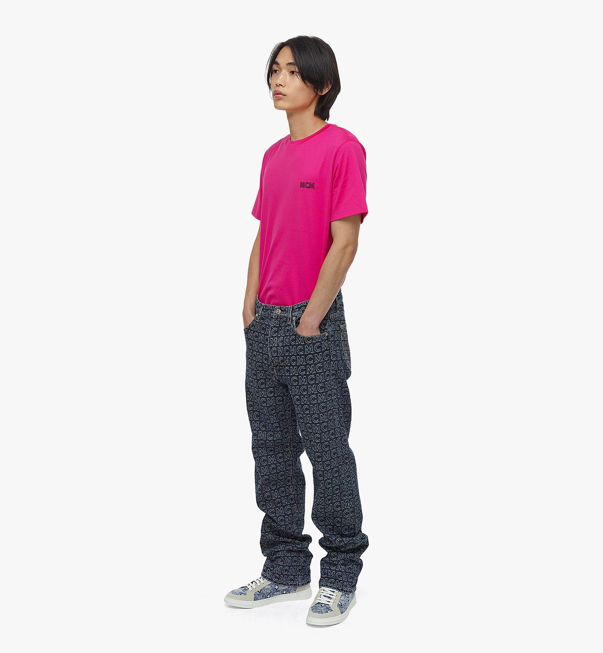 MCM Men's Monogram Straight Leg Jeans Black MHPAADS01VW050 Alternate View 3
