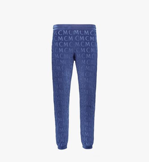 Pantalon de survêtement en velours monogrammé pour homme