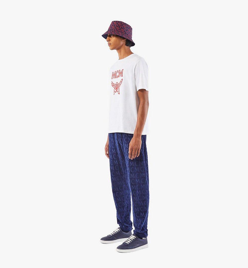 MCM Men's Monogram Velour Track Pants Black MHPAAMD01VW00L Alternate View 2