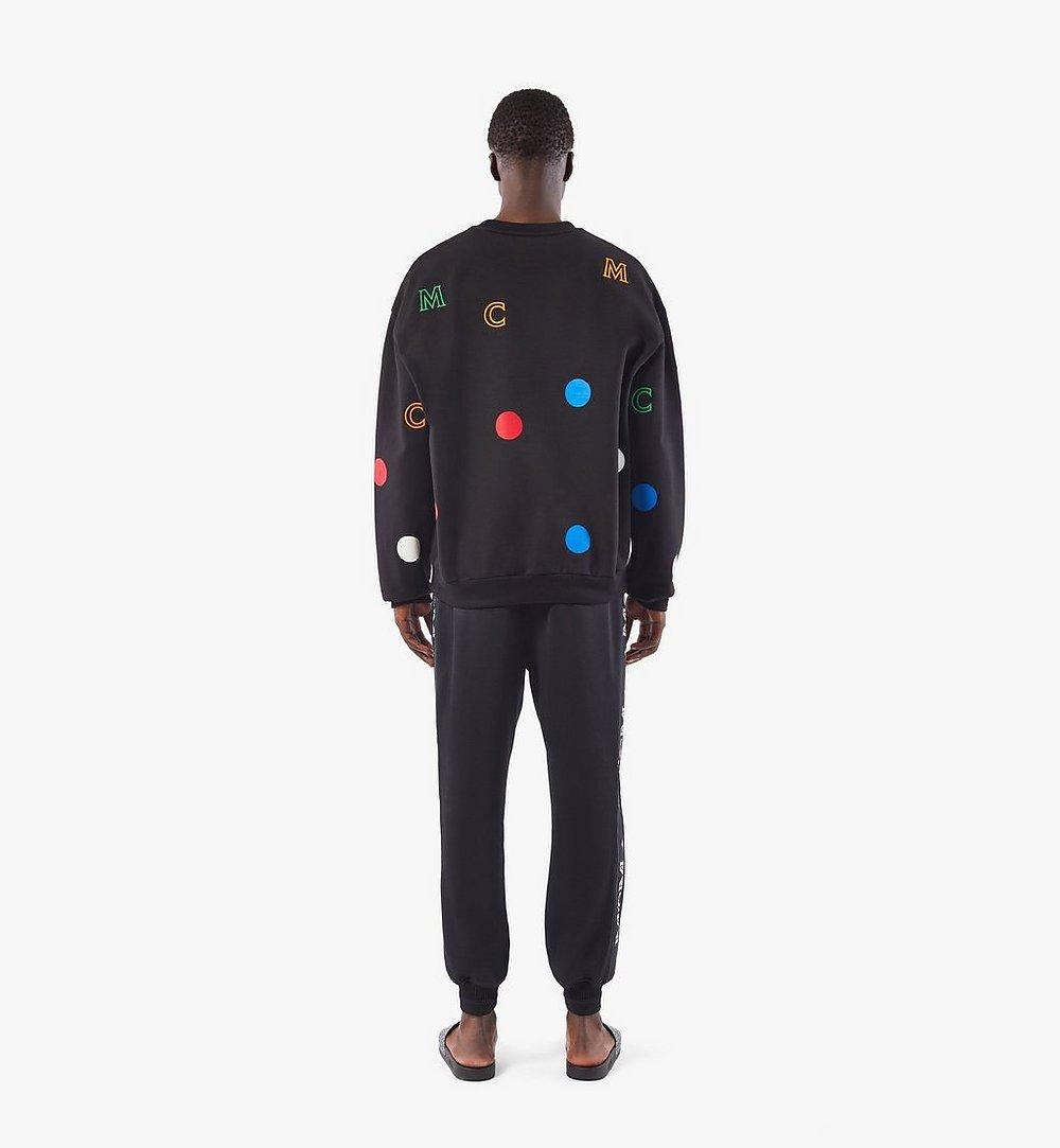 MCM Men's Intarsia Half Logo Sweatpants Black MHPAAMM05BK00L Alternate View 3