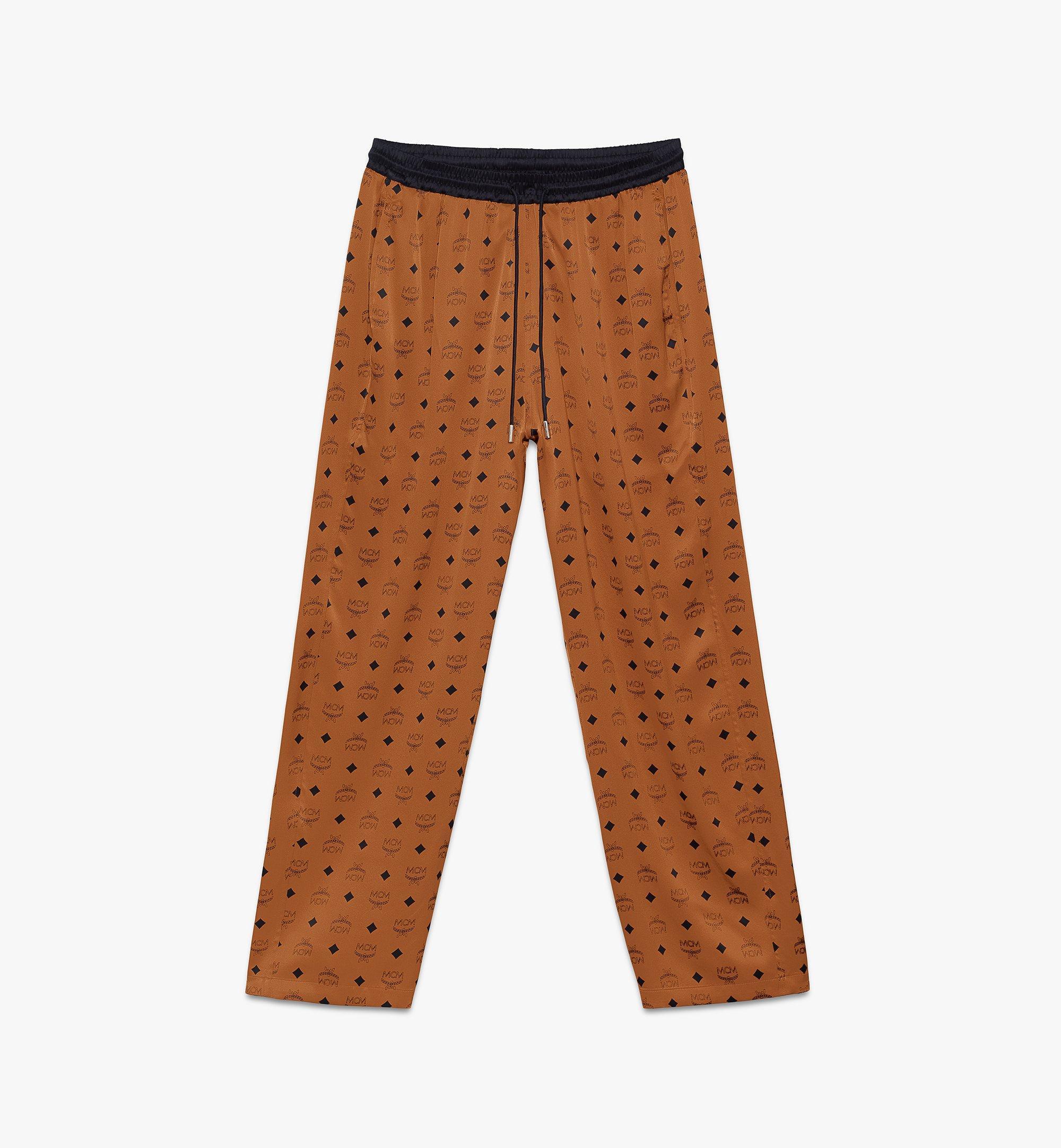 MCM Classic Logo Silk Pajama Pants Cognac MHPASBM01CO00L Alternate View 1
