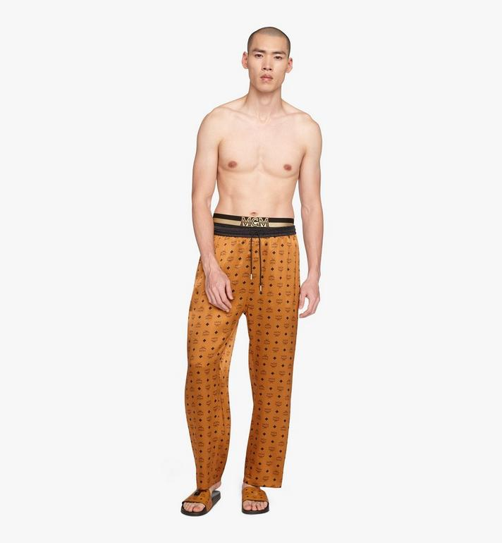 MCM Pantalon de pyjama classique en soie à imprimé logo  MHPASBM01CO00M Alternate View 3