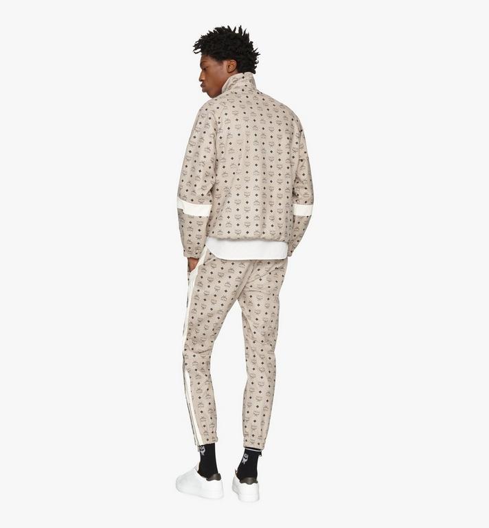 MCM Men's Track Pants in Visetos Grey MHPASMM04FJ00L Alternate View 4