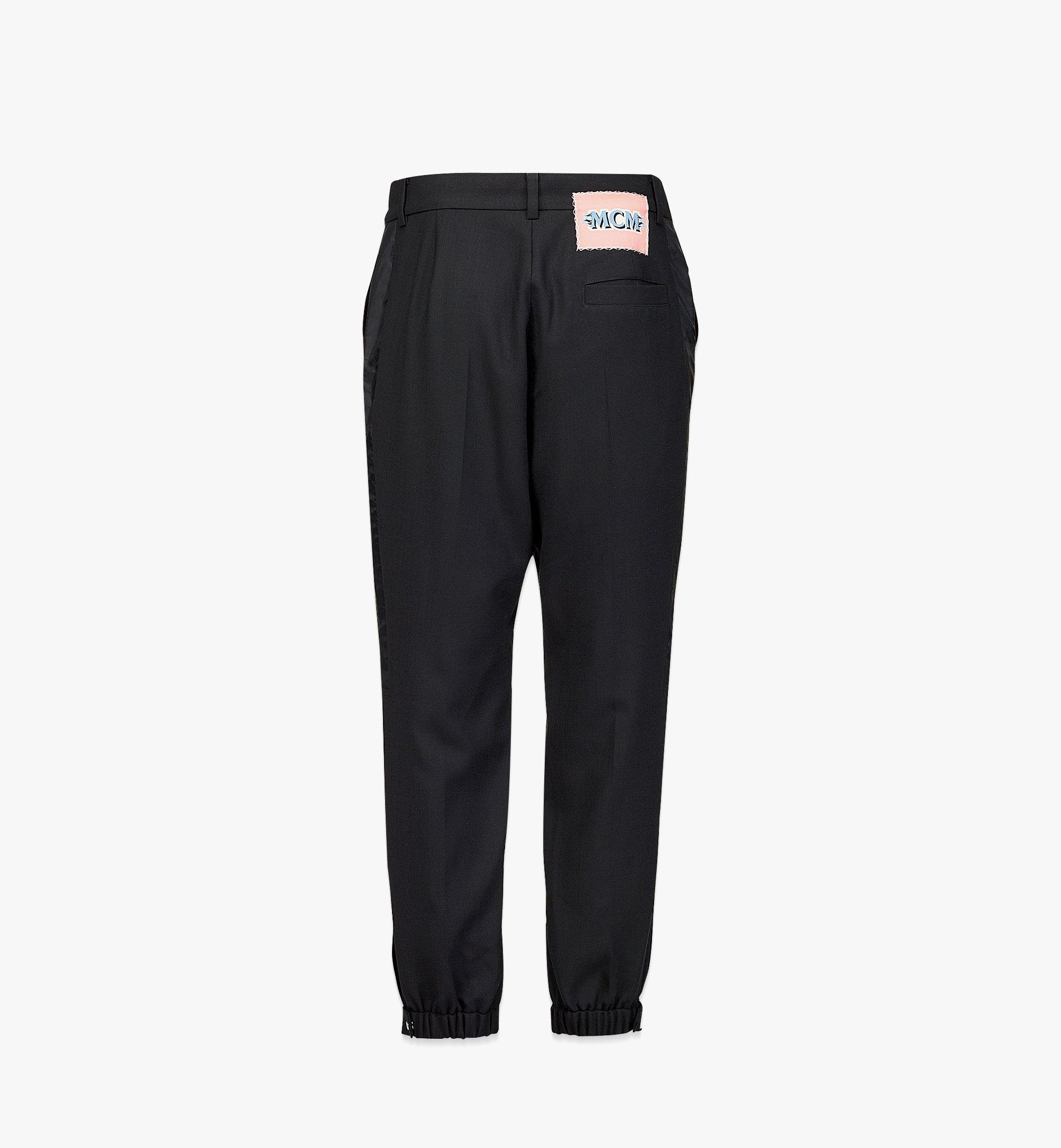 MCM Men's Wool Sweatpants Black MHPBAMM02BK048 Alternate View 1
