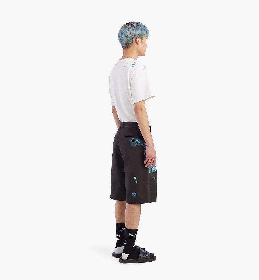 MCM Shorts mit Tech-Flower-Print für Herren Black MHPBSMM01B2046 Noch mehr sehen 2