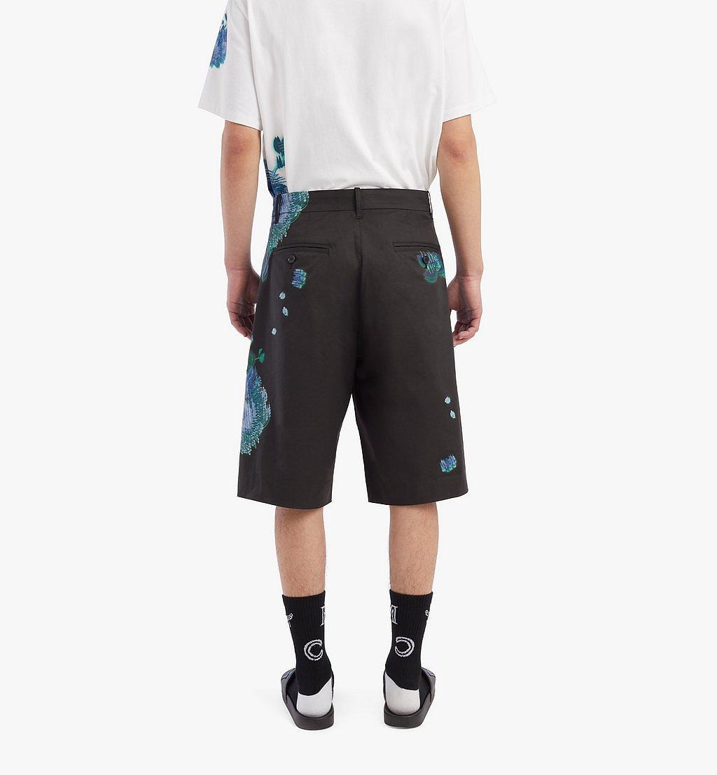 MCM Shorts mit Tech-Flower-Print für Herren Black MHPBSMM01B2046 Noch mehr sehen 3