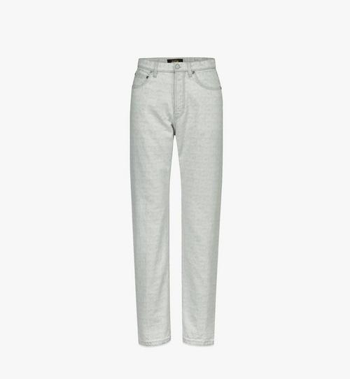 Men's Monogram Straight-Leg Denim Jeans