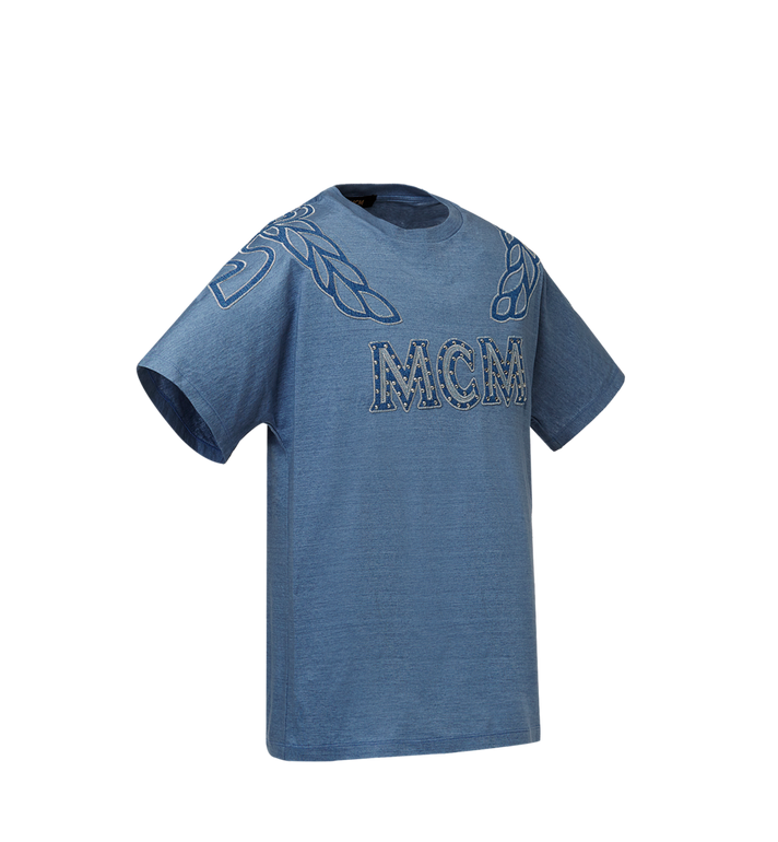 MCM MCM Denim Logo T-shirt  MHT8ADS56HD00M Alternate View 2