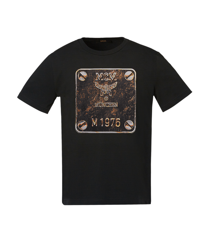 MCM Herren T-Shirt mit Messingplakette Alternate View