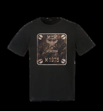 MCM Herren T-Shirt mit Messingplakette MHT8AMM01BK00L AlternateView