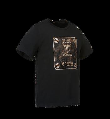 MCM Herren T-Shirt mit Messingplakette MHT8AMM01BK00L AlternateView2