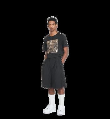 MCM Herren T-Shirt mit Messingplakette MHT8AMM01BK00L AlternateView4