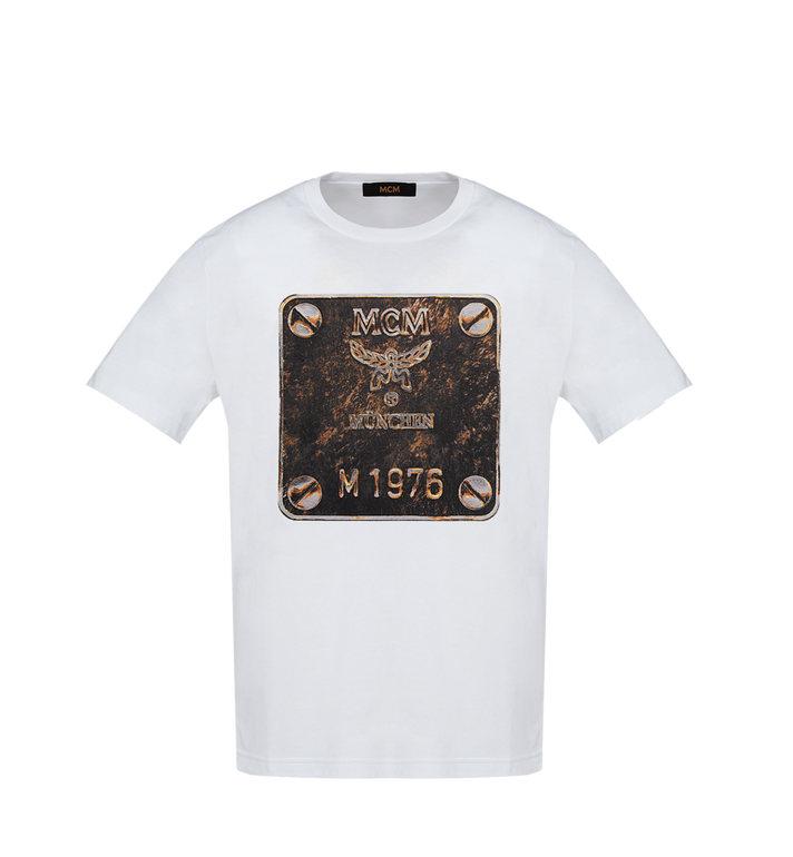 MCM Herren T-Shirt mit Messingplakette Alternate View
