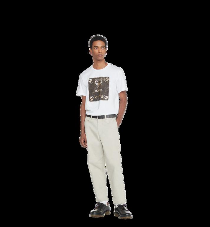 MCM Herren T-Shirt mit Messingplakette Alternate View 4