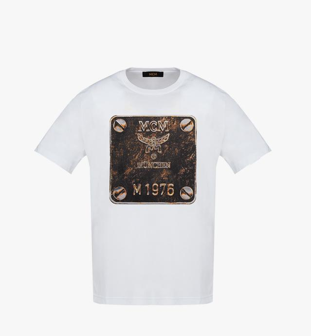 남성용 브라스 플레이트 티셔츠