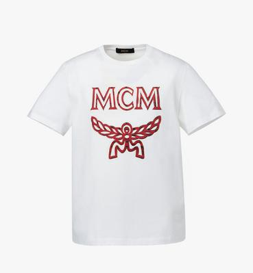 〈MCM X RED〉 ロゴ Tシャツ