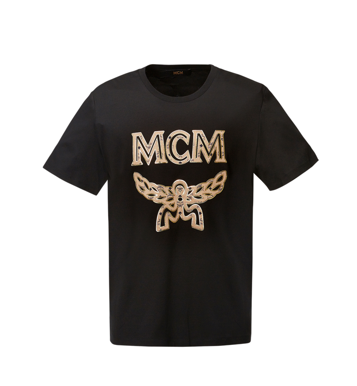 MCM Men's Logo T-Shirt MHT8SMM10BK00L AlternateView