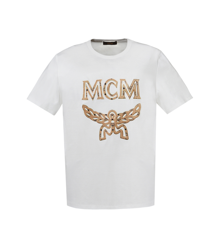 MCM Men's Logo T-Shirt MHT8SMM10WI00S AlternateView