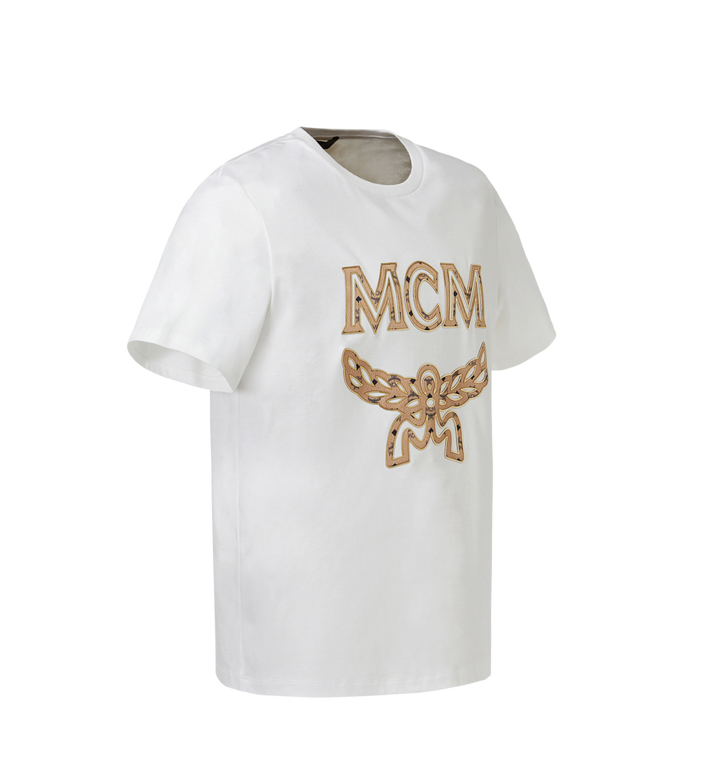 MCM Men's Logo T-Shirt MHT8SMM10WI00S AlternateView2