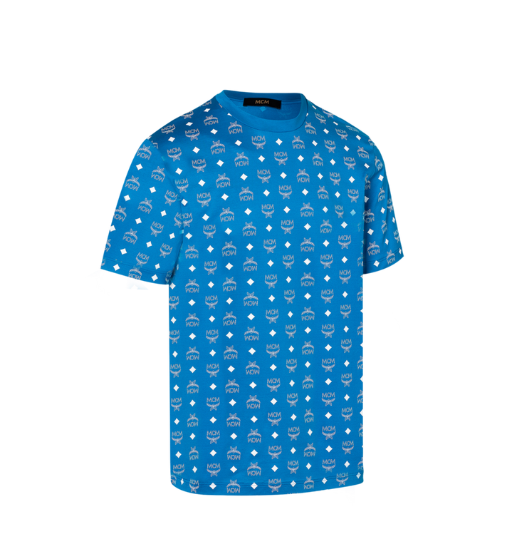 MCM Men's Visetos Print T-Shirt Blue MHT9SMM49HO00S Alternate View 2