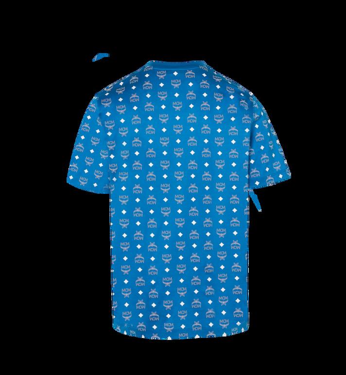 MCM Men's Visetos Print T-Shirt Blue MHT9SMM49HO00S Alternate View 3