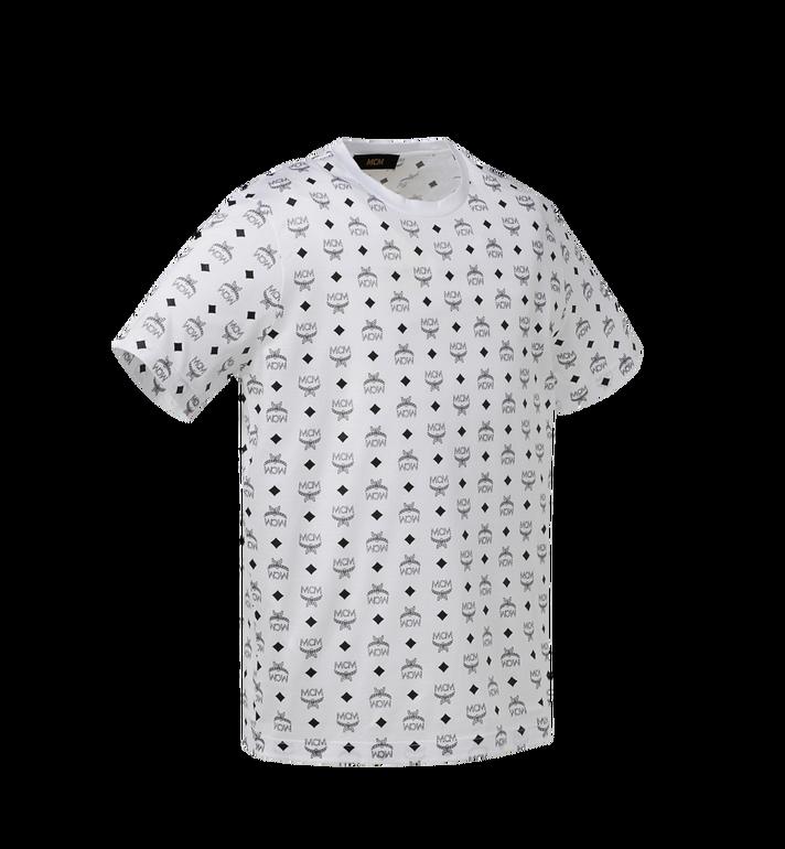 MCM Men's Visetos Print T-Shirt White MHT9SMM49WT00S Alternate View 2