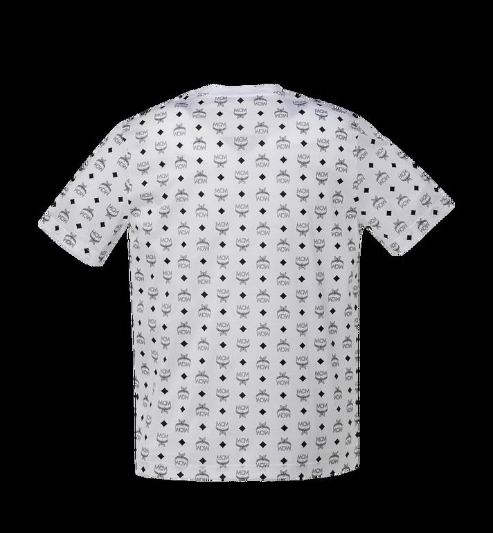 MCM Men's Visetos Print T-Shirt White MHT9SMM49WT00S Alternate View 3