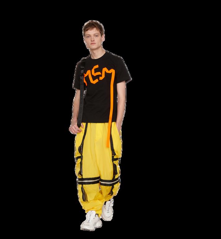 MCM Herren-T-Shirt mit Logo-Streifen-Print Black MHT9SMM77BK00L Alternate View 4