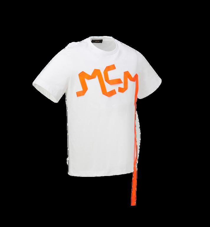 MCM Herren-T-Shirt mit Logo-Streifen-Print White MHT9SMM77WT00L Alternate View 2