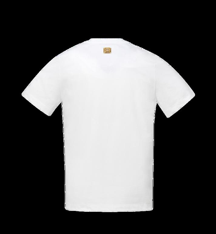 MCM Herren-T-Shirt mit Logo-Streifen-Print White MHT9SMM77WT00L Alternate View 3
