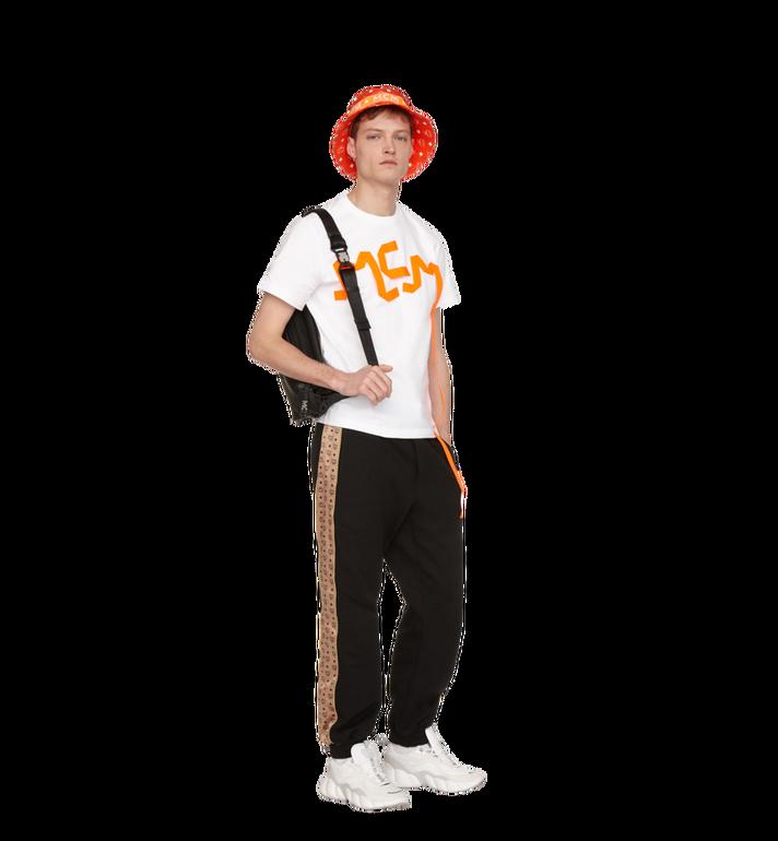MCM Herren-T-Shirt mit Logo-Streifen-Print White MHT9SMM77WT00L Alternate View 4