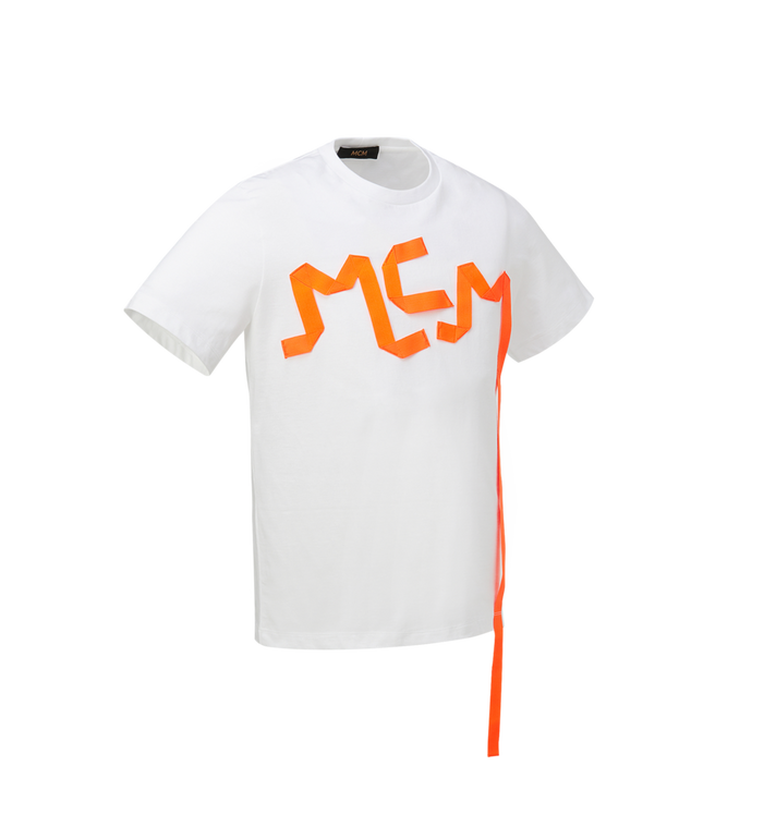 MCM T-shirt avec bande à logo imprimé pour homme Alternate View 2