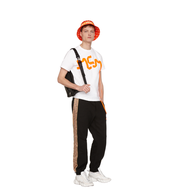 MCM T-shirt avec bande à logo imprimé pour homme Alternate View 4