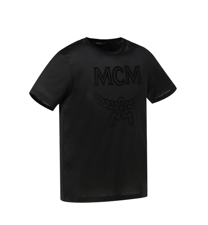 MCM Men's Tone On Tone Logo T-Shirt Black MHT9SMM80BK00L Alternate View 2