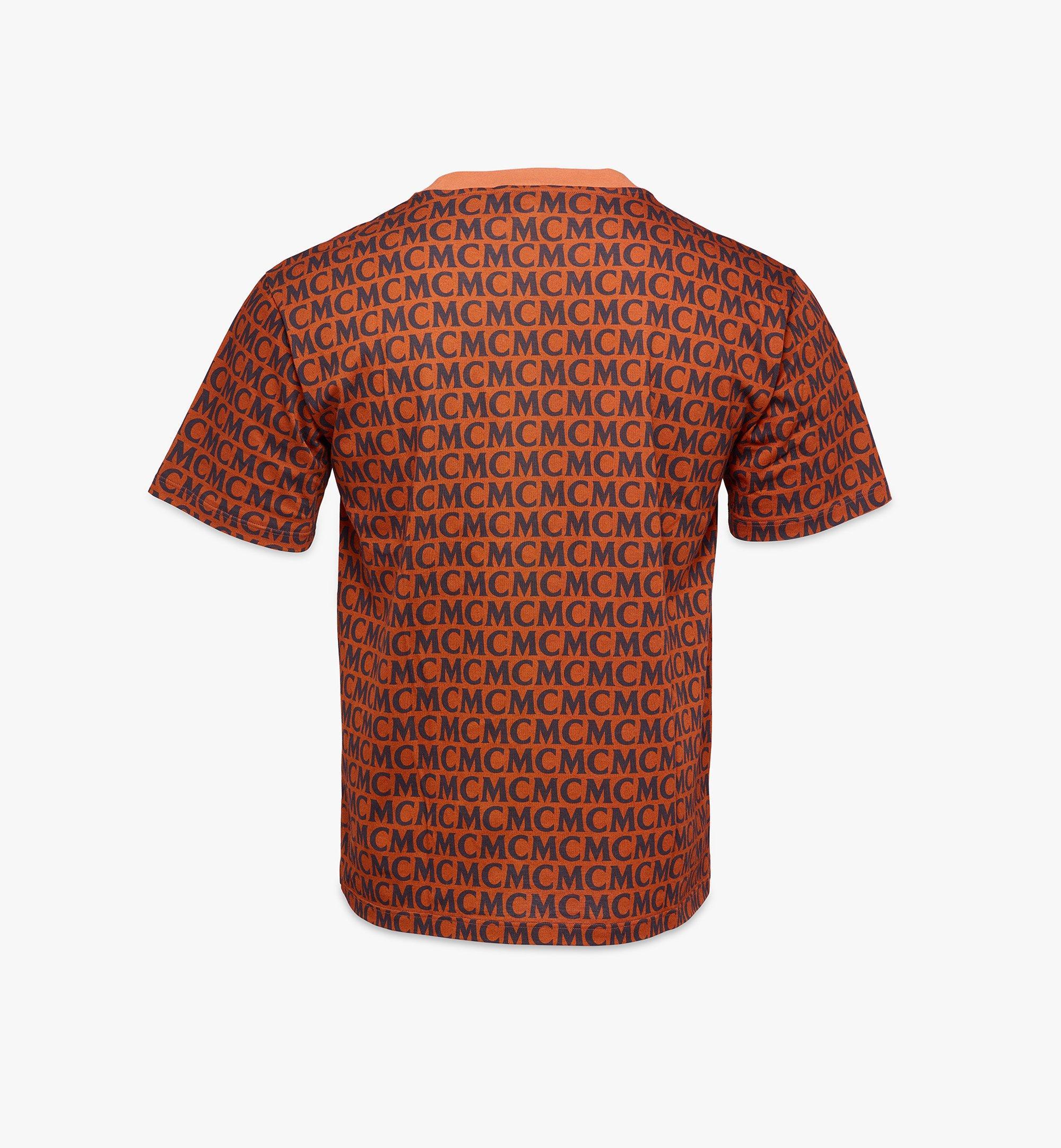 MCM Men's Monogram T-Shirt Brown MHTAAMD01C400L Alternate View 2
