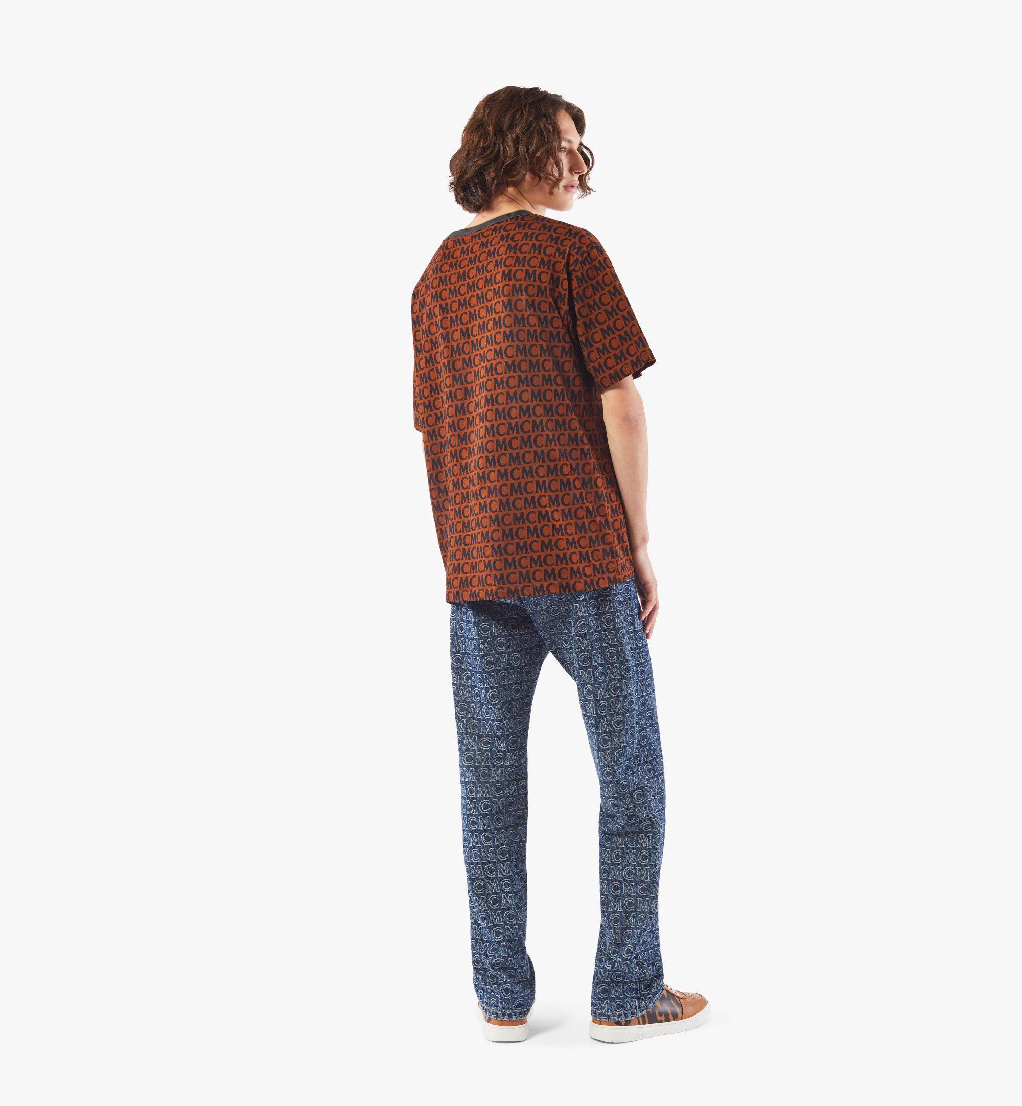 MCM Men's Monogram T-Shirt Brown MHTAAMD01C400M Alternate View 2
