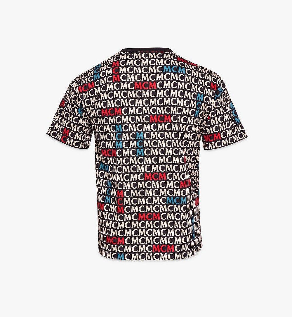 MCM Men's Monogram T-Shirt Black MHTAAMD01MW00L Alternate View 1